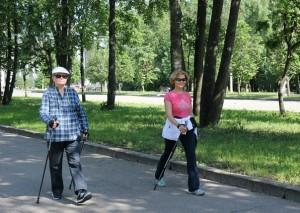 Скандинавская ходьба в joy фитнес Красногорск